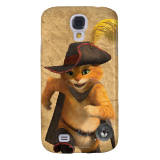 CG Puss Runs Samsung Galaxy S4 Cover