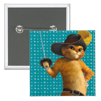 CG Puss Waves Sword 2 Inch Square Button