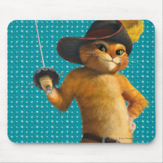 CG Puss Waves Sword Mouse Pad