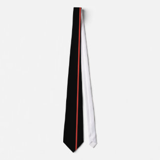 CG Red Thin Vertical Line on Black Tie
