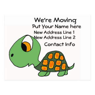 CG- We're Moving Turtle Postcard