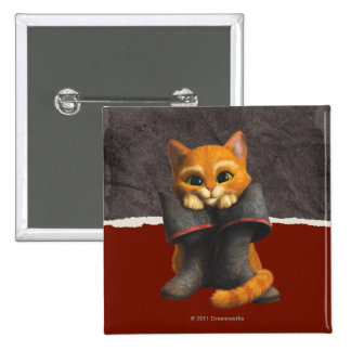 CG Young Puss 2 Inch Square Button