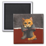 CG Young Puss 2 Inch Square Magnet