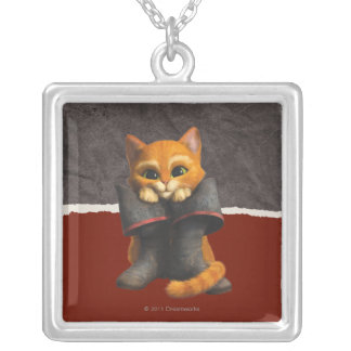 CG Young Puss Square Pendant Necklace