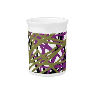 CGDHFN Abstract Digital Line-Art Drink Pitchers