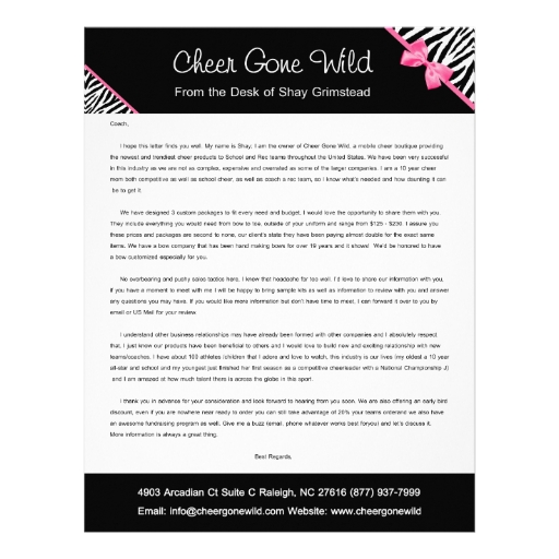 cgw cover letter personalized letterhead zazzle