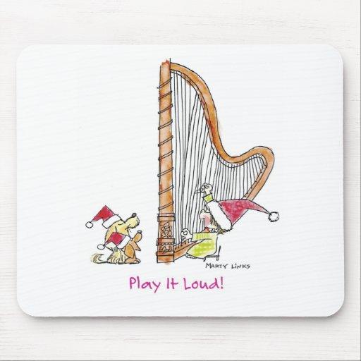 CH-004 Christmas Harp Mouse Pad