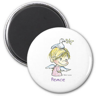 CH-009 Christmas Peace 2 Inch Round Magnet