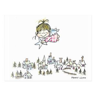 CH-010 Christmas Angel Postcard