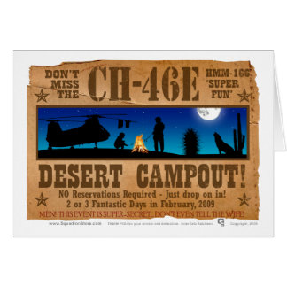 CH-46 Desert Campout Card