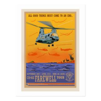 CH-46 Farewell Pos ard Postcard