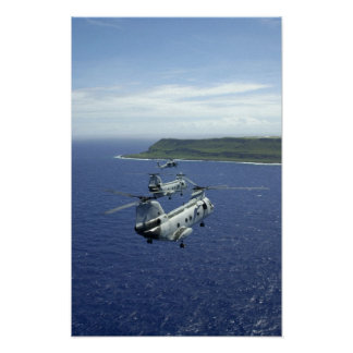 CH-46 Sea Knights Poster
