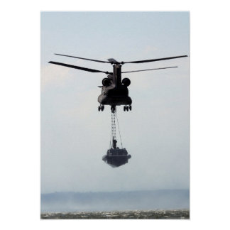 CH-47 Chinook Boat Lift Poster