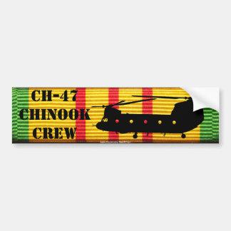 CH-47 Chinook Crew VSM Ribbon Bumper Sticker