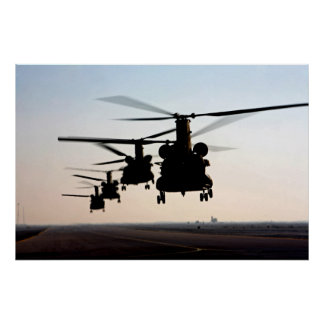 CH-47 Chinooks Poster