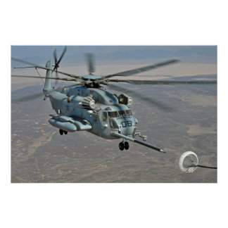 CH-53E on Refueling Mission Poster