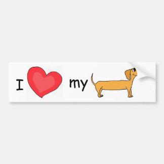 CH- I love my dachshund bumper sticker