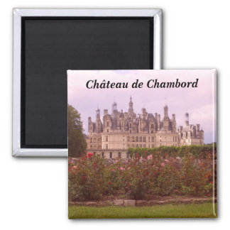Ch�teau de Chambord - Imán Cuadrado