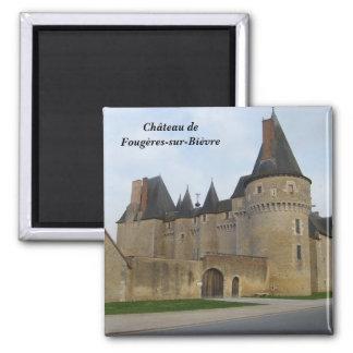 Ch�teau de Foug�res-sur-Bi�vre - Imán Cuadrado