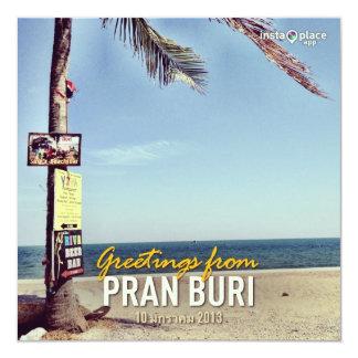 "Cha-am Beach Thailand province holiday card 5.25"" Square Invitation Card"