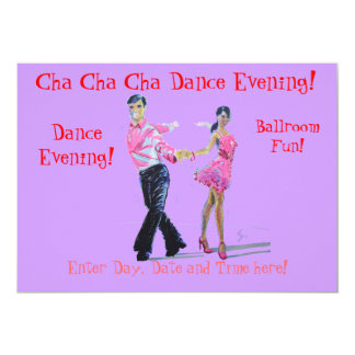 Cha Cha Cha Ballroom Dancing Card