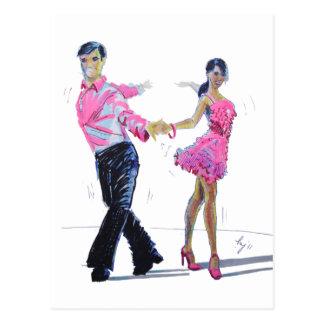 Cha Cha Cha Ballroom Dancing Postcard