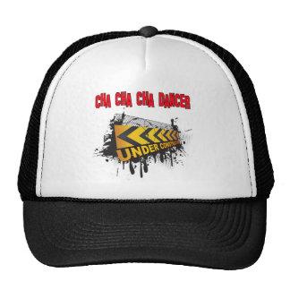 Cha cha cha dancer under construction trucker hat