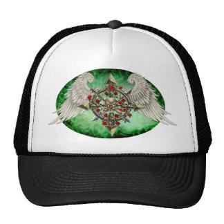 Cha-O-Estrella (óvalo verde) Gorros Bordados