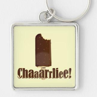 ¡Chaaarrliee! Llavero Cuadrado Plateado