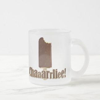 Chaaarrliee! 10 Oz Frosted Glass Coffee Mug