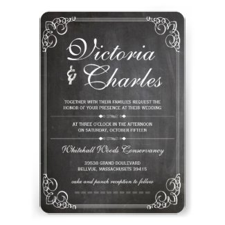 Chaalkboard Modern Vintage Typography Invite