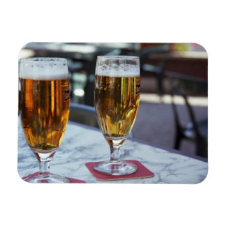 Chablis; dos cervezas frescas en 42 grados de vera imanes rectangulares