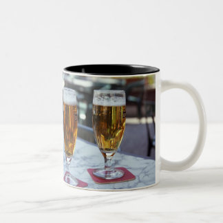 Chablis; two cool beers at 42 degrees hot summer Two-Tone coffee mug