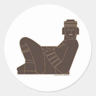 Chac Mool Classic Round Sticker