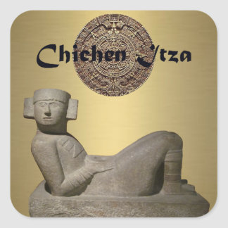 Chac-Mool Square Sticker