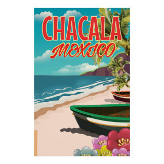 Chacala Mexico travel poster