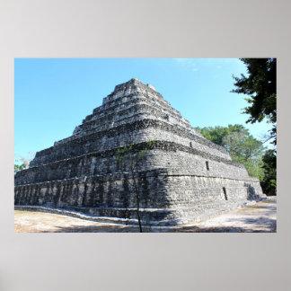 Chaccoben Mayan Pyramid Poster