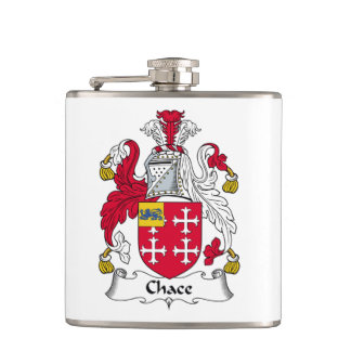 Chace Family Crest Hip Flasks