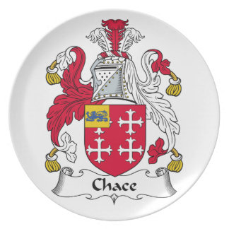 Chace Family Crest Party Plate