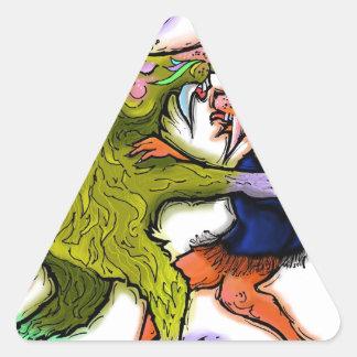 Chachacha.jpg Pegatina Triangular