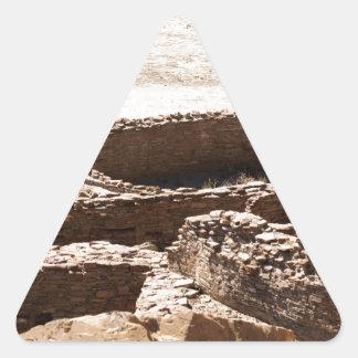 Chaco Canyon New Mexico Triangle Sticker
