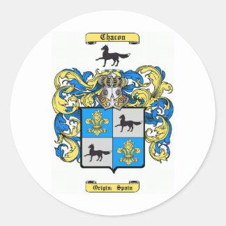 chacon classic round sticker