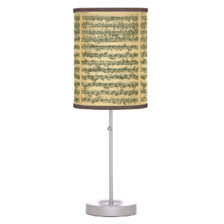 Chaconne Music Manuscript by Bach for Violin Solo Table Lamp