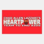 Chad Allen Lazzari HEARTPOWER Rectangular Stickers
