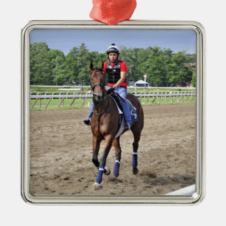 Chad Brown on Saratoga 150 Metal Ornament