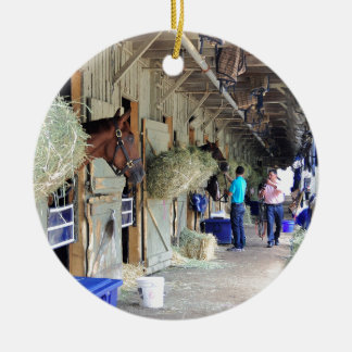 Chad Brown Stables Ceramic Ornament