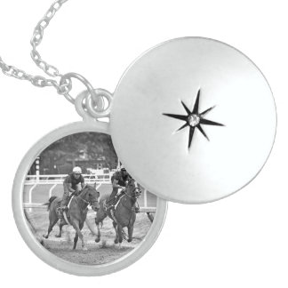 Chad Brown Workouts at Saratoga Locket Necklace