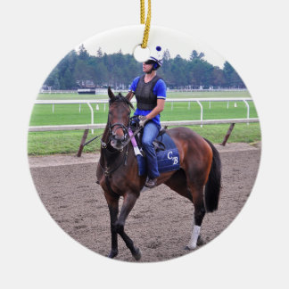 Chad Brown Workouts Ceramic Ornament