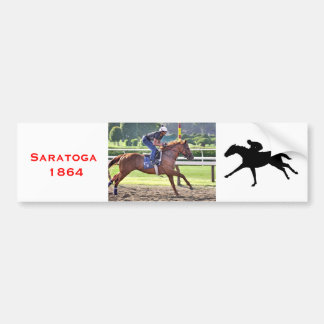 Chad Brown Workouts during Saratoga 150 Bumper Stickers