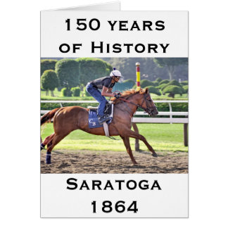 Chad Brown Workouts during Saratoga 150 Greeting Card